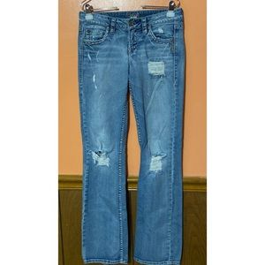"Lola 17"" Distressed Jeans"